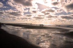 Puesta del sol de Mar del Norte imagen de archivo