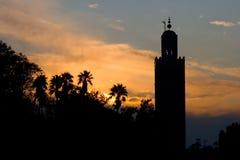 Puesta del sol de Marrakesh Foto de archivo libre de regalías