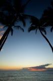 Puesta del sol de Maui Imagen de archivo