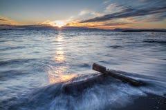 Puesta del sol de medianoche Imagen de archivo libre de regalías