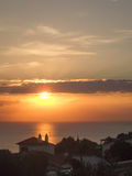 Puesta del sol de Menorcan Fotos de archivo