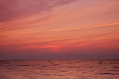 Puesta del sol de Michigan de lago fotografía de archivo