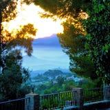 Puesta del sol de Mijas Fotos de archivo libres de regalías