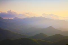 Puesta del sol de Moiwa Fotografía de archivo