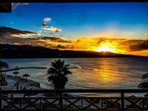 Puesta del sol de Montego Bay Fotos de archivo libres de regalías