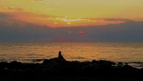 Puesta del sol de Montevideo Uruguay Fotografía de archivo