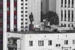 Puesta del sol de Moscú Foto de archivo