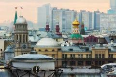Puesta del sol de Moscú Fotos de archivo libres de regalías