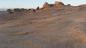Puesta del sol de Mungo Australian Outback Desert Landscape del lago almacen de metraje de vídeo