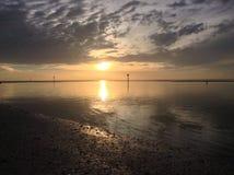 Puesta del sol de Nápoles, la Florida Foto de archivo libre de regalías
