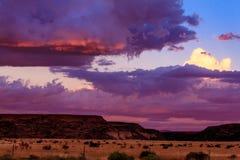 Puesta del sol de New México Imagenes de archivo
