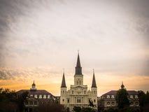 Puesta del sol de New Orleans Imágenes de archivo libres de regalías