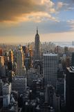 Puesta del sol de New York City Foto de archivo