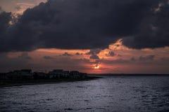 Puesta del sol de Norfolk fotos de archivo