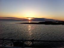 Puesta del sol de Noruega Foto de archivo libre de regalías