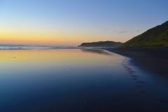 Puesta del sol de Nueva Zelanda Fotografía de archivo