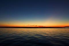 Puesta del sol de OBX Fotos de archivo