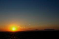 Puesta del sol de oro Imágenes de archivo libres de regalías