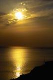 Puesta del sol de oro Fotografía de archivo libre de regalías