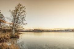 Puesta del sol de Osterseen Fotografía de archivo libre de regalías