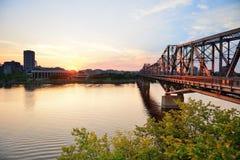 Puesta del sol de Ottawa foto de archivo libre de regalías