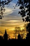 Puesta del sol de Oxford Imagen de archivo