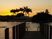 Puesta del sol de Palm Beach Fotografía de archivo