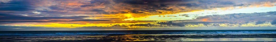 Puesta del sol de Pano Imagen de archivo