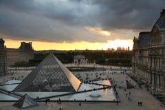 Puesta del sol de París fotos de archivo libres de regalías