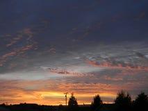 Puesta del sol de Paso Robles Fotografía de archivo libre de regalías