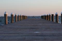 Puesta del sol de Peir Fotografía de archivo libre de regalías