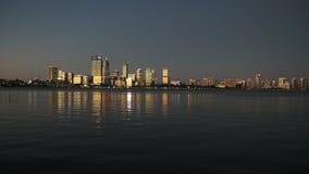 Puesta del sol de Perth de la explanada del sur de Perth almacen de metraje de vídeo