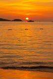Puesta del sol de Phuket Imagen de archivo
