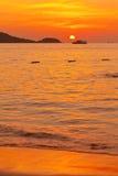 Puesta del sol de Phuket Fotos de archivo libres de regalías