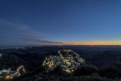 Puesta del sol de Point of View en Casares Fotografía de archivo