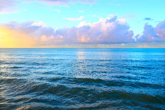 Puesta del sol de Puerto Rico Imágenes de archivo libres de regalías