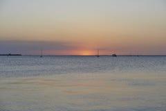 Puesta del sol de Punta Gorda Foto de archivo