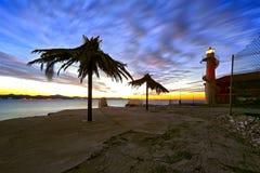 Puesta del sol de Puntamika Foto de archivo libre de regalías