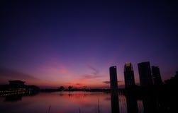 Puesta del sol de Putrajaya Foto de archivo libre de regalías