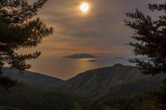 Puesta del sol de Rodas imagen de archivo libre de regalías