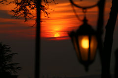 Puesta del sol de Romantics fotografía de archivo libre de regalías