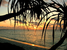 Puesta del sol de Romantik Imagen de archivo
