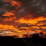 Puesta del sol de Roy Foto de archivo libre de regalías
