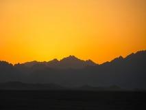 Puesta del sol de Sáhara Fotos de archivo