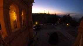 Puesta del sol de San Luca Sanctuary almacen de video