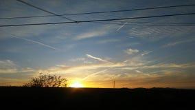 Puesta del sol de San Manuel Arizona Imagenes de archivo
