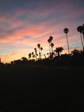 Puesta del sol de Santa Barbara Imágenes de archivo libres de regalías