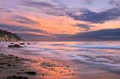 Puesta del sol de Santa Barbara Fotografía de archivo libre de regalías