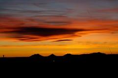 Puesta del sol de Santa Fe Fotos de archivo