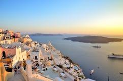 Puesta del sol de Santorini Fotografía de archivo libre de regalías